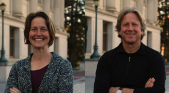 GG101x instructors Emiliana Simon-Thomas and Dacher Keltner