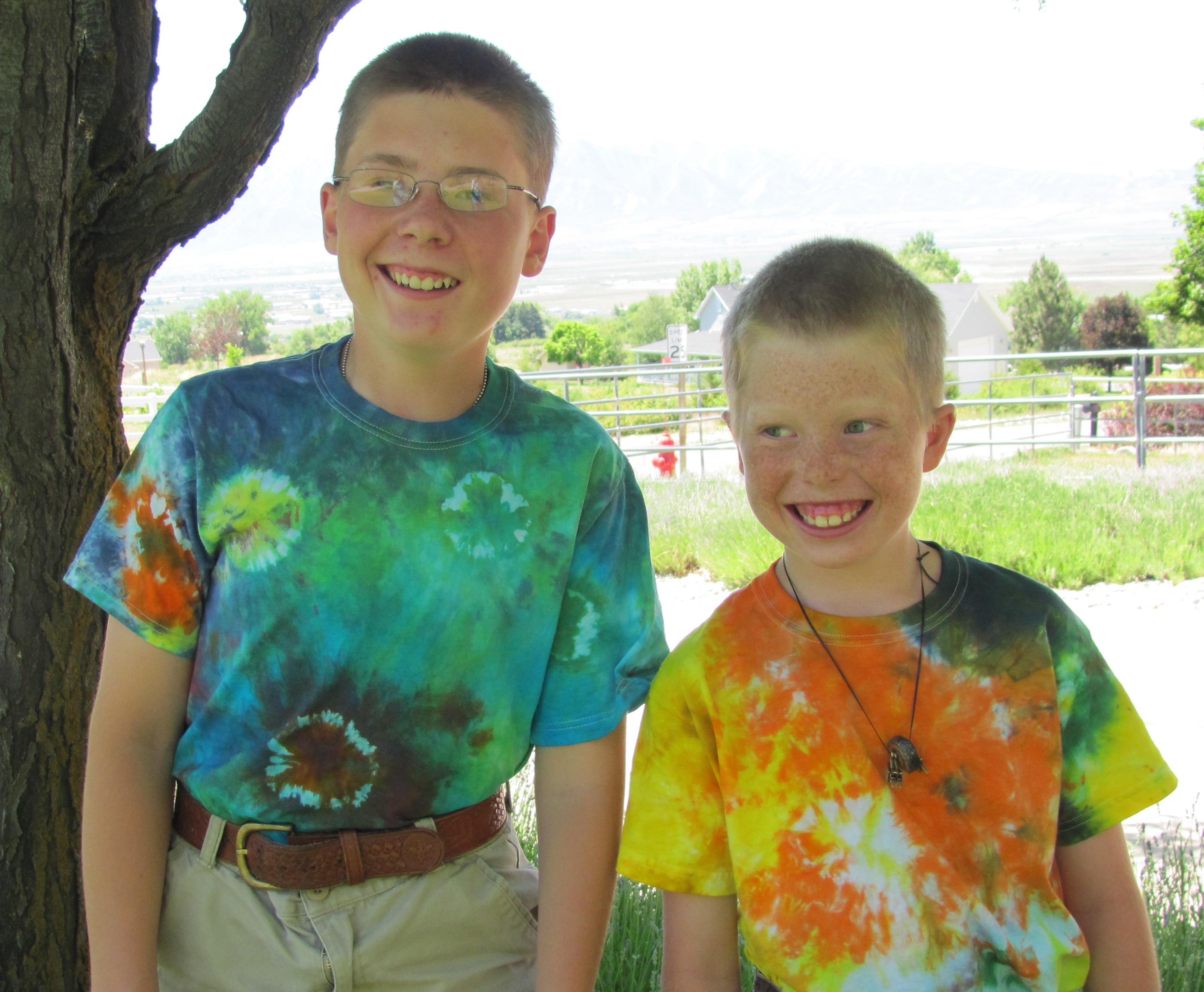 Tie-dye Day at Camp Hobe