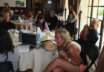 Krista Schroth laughs with other participants at the 2013 Summer Institute for Educators