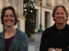 Emiliana Simon-Thomas and Dacher Keltner, co-instructors for GG101x: The Science of Happiness. You can still enroll for the self-paced course.