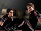 Katniss and Peeta of The Hunger Games.