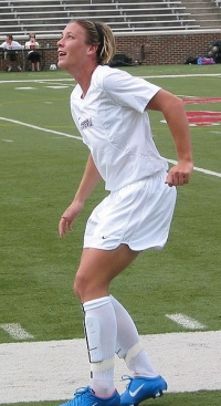 Abby Wambach at a Washington Freedom exhibition game in 2004.