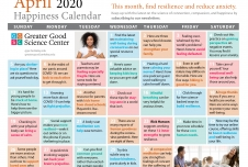 Your Greater Good Calendar for April 2020