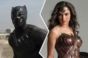 Chadwick Boseman is <em>Black Panther</em>; Gal Gadot is <em>Wonder Woman</em>.