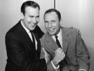 Carl Reiner (left) and Mel Brooks worked together on Your Show of Shows.