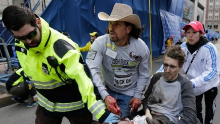 Carlos Arredondo, a bystander at the Boston Marathon who rushed to the aid of victims after the explosions.