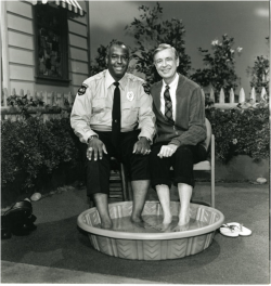 "<a href=""https://commons.wikimedia.org/wiki/File:DivaMan_as_Officer_Clemmons.png#/media/File:DivaMan_as_Officer_Clemmons.png"">François Clemmons on <em>Mister Rogers' Neighborhood</em></a>"