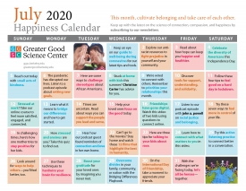 Your Greater Good Calendar for July 2020