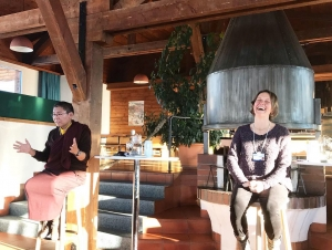Emiliana Simon-Thomas and Tsoknyi Rinpoche teach at Davos.