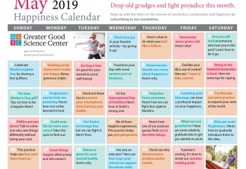 Your Happiness Calendar for May 2019