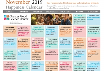 Your Happiness Calendar for November 2019