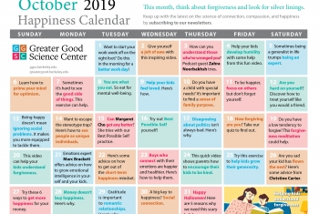 Your Happiness Calendar for October 2019