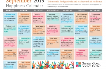 Your Happiness Calendar for September 2019