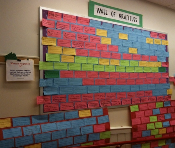 Image result for wall of gratitude