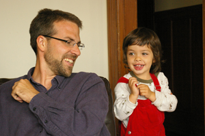 The author with his son, Liko.