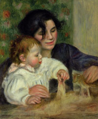 """Gabrielle and Jean"" by Pierre-Auguste Renoir. Ellen Dissanayake traces the origin of the arts to the mother-infant bond."