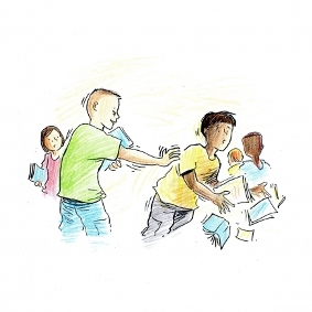 Examples of physical and verbal bullying depicted in the authors' video