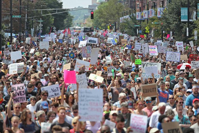 Anti-racist rally in Boston
