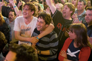 Bromances like that between Jason Segel and Paul Rudd in the 2009 movie <em>I Love You, Man</em>, are often pitted against romantic relationships like that between Rudd and love interest Rashida Jones, right.