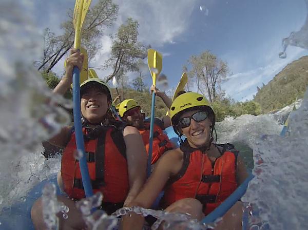 Vets on rafting trip