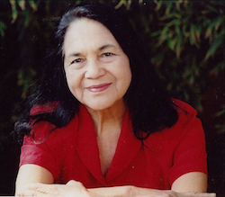 Dolores Huerta is a civil rights activist who cofounded the United Farm Workers.