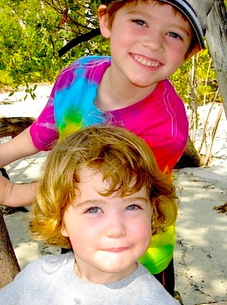 Owen (5) and Annika (3) on a rare trip to Florida