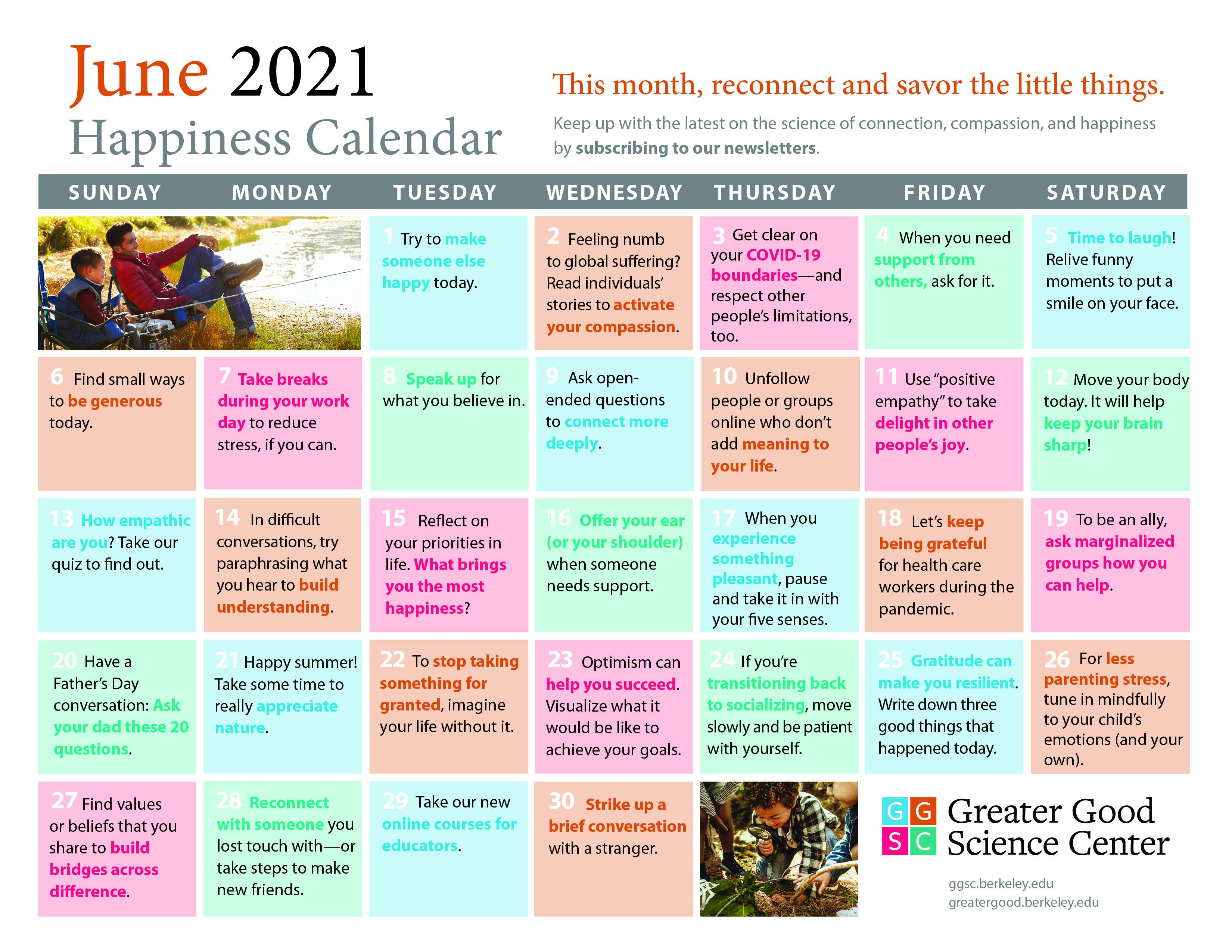 May happiness calendar