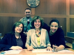 Judge Jessica Silvers and her staff.