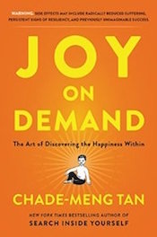 Read <a href=&#8220;http://greatergood.berkeley.edu/article/item/how_to_bring_humor_to_meditation&#8221;>our review</a> of <em>Joy on Demand</em>.