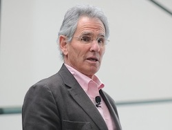 "The Greater Good Science Center also popularizes the science of a meaningful life through conferences and seminars that feature researchers like <a href=""http://greatergood.berkeley.edu/author/jon_kabat-zinn"">Jon Kabat-Zinn</a>, here speaking at the ""Practicing Mindfulness and Compassion"" conference in March."