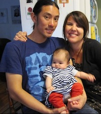 Leilani Clark with her husband Jacques and their baby, Gabriela. Next year, Leilani plans to go back to work full-time while Jacques becomes primary caregiver.