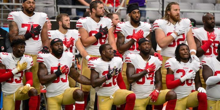 49ers kneel