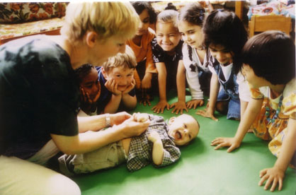 "The <a href=""http://greatergood.berkeley.edu/article/item/wisdom_of_babies"">Roots of Empathy</a> program (above) brings babies into classrooms to foster empathic skills. Evaluations have found that it reduces aggression, boosts emotional literacy, and creates more caring children."