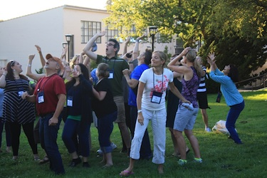 Games and other playful activities were a key part of the Greater Good Science Center's Summer Institute for Educators, which develops key social-emotional learning skills.