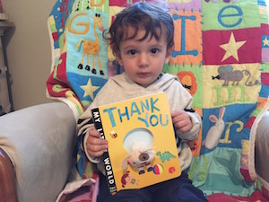 "Researching the science of gratitude and how it affects children has inspired Shuka Kalantari to start teaching her son to say ""thank you"" (even though he can't talk yet)."