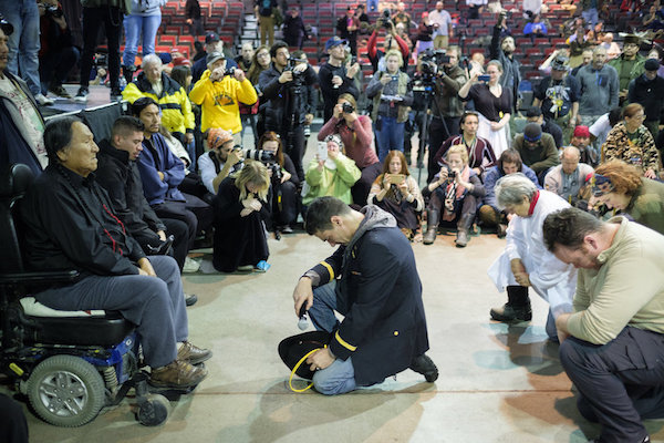 Veterans ask for forgiveness at Standing Rock
