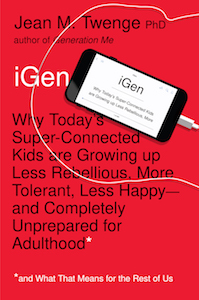 Read <a href=&#8220;https://greatergood.berkeley.edu/article/item/how_teens_today_are_different_from_past_generations&#8221;>our review</a> of <em>iGen</em>.