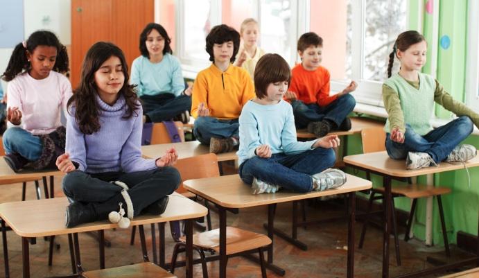 meditating kids