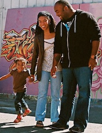 Shawn Taylor with his family